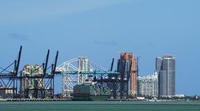 порт miami Стоковое Изображение