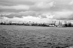 Порт Minimalistic Варны Стоковое фото RF