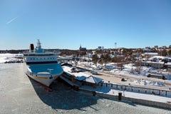 порт nynashamn стоковое изображение rf