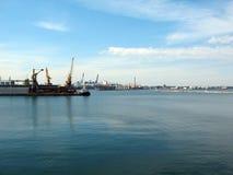 порт odessa груза стоковое фото