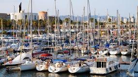 Порт OlÃmpic Барселона, Каталония, Испания стоковые фотографии rf