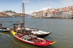 порт porto Португалия duora шлюпок Стоковое Изображение RF