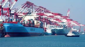 Порт Qingdao стоковое изображение rf