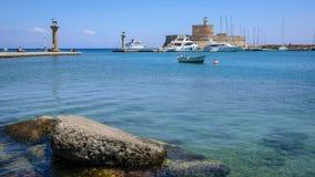Порт Rodos Mandraki Стоковое Изображение RF