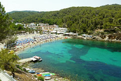 Порт San Miguel, Ibiza Испания Стоковая Фотография RF