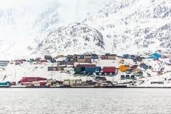 Порт Sisimiut 2-ой самый большой Greenlandic город Стоковое Изображение RF