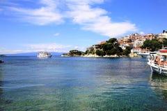 Порт Skiathos старый, Греция стоковые фото