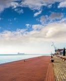 Порт Thessaloniki, Греция Стоковое фото RF