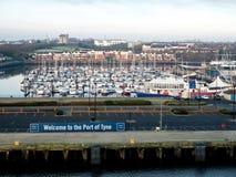 Порт Tyne, Ньюкасл, Англии Стоковое Фото