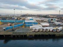 Порт Tyne, Ньюкасл, Англии Стоковые Фото