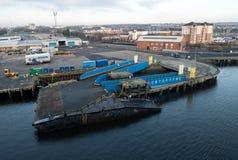 Порт Tyne, Ньюкасл, Англии Стоковые Изображения RF