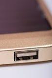 Порт USB на приборе банка солнечной энергии Стоковые Фото