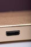 Порт USB на приборе банка солнечной энергии Стоковое Изображение RF