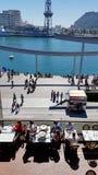 Порт Vell в Барселоне, Каталонии, Испании стоковое фото rf