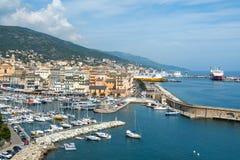 Порт Vieux, старый порт, в Bastia, Франция стоковая фотография