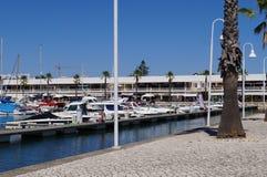 Порт Villamoura, города юга Португалии Взгляд со стороны Стоковые Фотографии RF