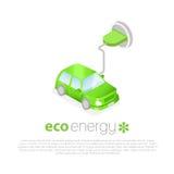 поручать автомобиля электрический Значок концепции энергии Eco Стоковое Фото