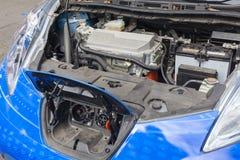 Поручите блок порта и мотора электрического автомобиля стоковые фото