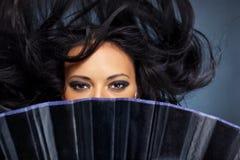 порхая детеныши женщины волос Стоковое Фото