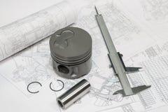 Поршень двигателя автомобиля Стоковое Изображение