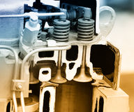 Поршень двигателя дизеля Стоковое Изображение