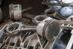 поршень двигателя старый Стоковая Фотография