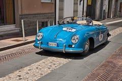 Порше 356 1500 1955 в Mille Miglia 2017 Стоковое Фото