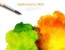 порывистая акварель краски Стоковое Фото