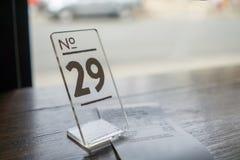 Порядковый номер 29 и счет на таблице стоковые фото