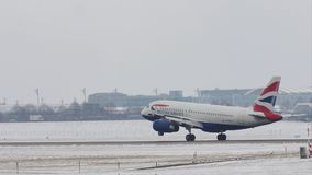 Посадка аэробуса A319-100 G-EUPJ British Airways на авиапорте Мюнхена