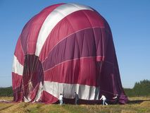 Посадка воздушного шара Стоковые Изображения