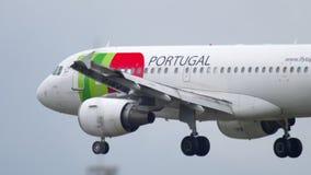 Посадка самолета в Франкфурте сток-видео
