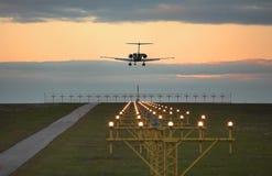 посадка самолета Стоковые Фото