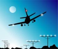 посадка самолета Стоковое фото RF