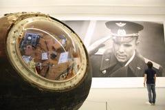 Посадка ` Юрия Gagarin Востока ` корабля ` Космоса ` выставки русское moscow 13 09 2016 стоковая фотография rf