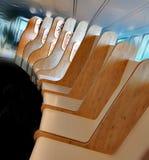 Посадочные места авиапорта Мюнхена стоковые фотографии rf