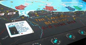 Посадка приставает Нормандию к берегу стоковая фотография