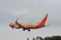 Посадка самолета Southwest Airlines Стоковое Изображение RF
