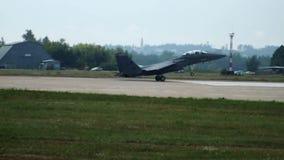 Посадка F-15 сток-видео