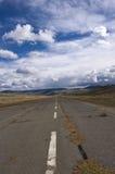 Посадочная полоса в холмах Стоковые Фото