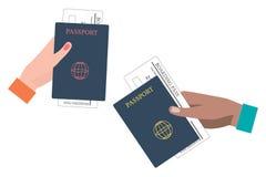 Посадочный талон и пасспорт Стоковое Изображение