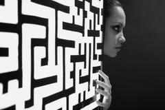 посвеченная картина девушки Стоковое фото RF