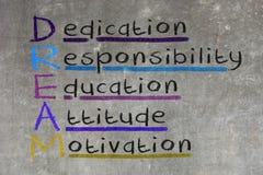 Посвящение, ответственность, образование, ориентация, мотивировка - DR иллюстрация штока