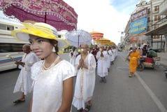 посвящение Таиланд буддийского монаха Стоковое Изображение