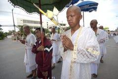 посвящение Таиланд буддийского монаха Стоковые Фото