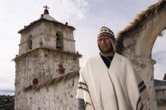 поселенец parinacota Чили altiplano Стоковые Изображения