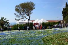 Посетители на выставке 2018 Euroflora Parchi di Nervi genoa Италия Стоковые Изображения RF