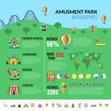 Посетители Infographics привлекательностей парка Amusemennt бесплатная иллюстрация