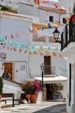 Посещающ деревню Frigiliana, Коста del Sol - праздник Испании Стоковые Фотографии RF