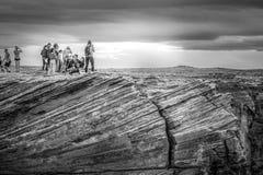 Посещающ загиб подковы в Аризоне - СТРАНИЦЕ, США - 29-ОЕ МАРТА 2019 стоковое изображение rf